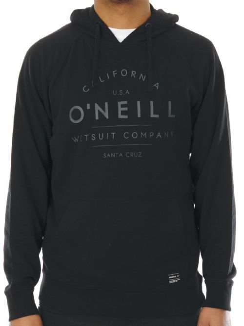 O'NEILL MENS HOODY.NEW BLACK HOODED TOP SURFING HOODIE JUMPER 7S 1400 9010